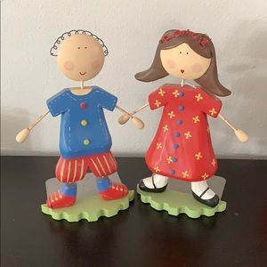 Super cute💕 book ends girl and boy💕💙